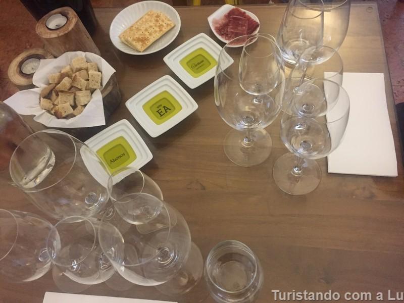 degustação de vinhos e azeites na cartuxa